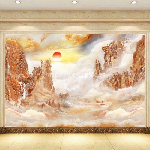 Tranh dán tường giả núi đá cẩm thạch - 5D091