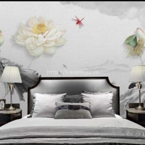 5D099-4-tranh dan tuong chu de hoa sen nhe nhang