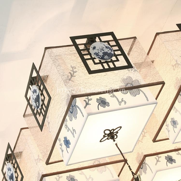 Từng phần của đèn được thiết kế tinh xảo, tỉ mỉ trong từng chi tiết