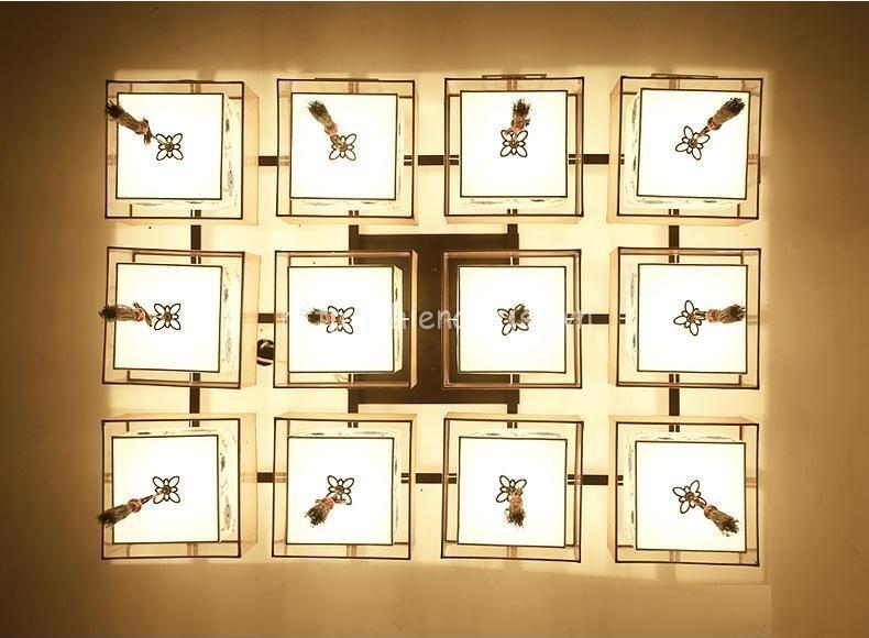 Đèn trần phòng khách sáng tạo hình hộp DTT027