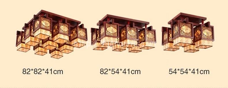 Kích thước thực tế của đèn với 4 hộp 6 hộp và 9 hộp