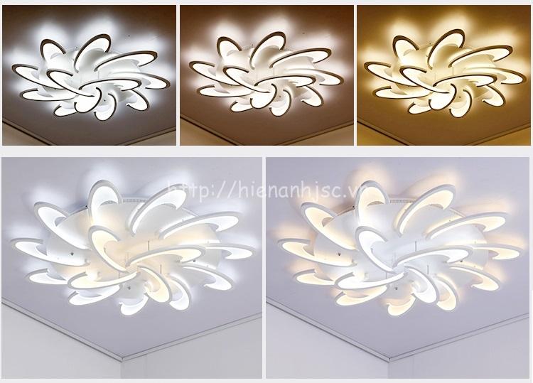 Sự đa dạng về màu sắc của mẫu đèn trần trang trí DTT031