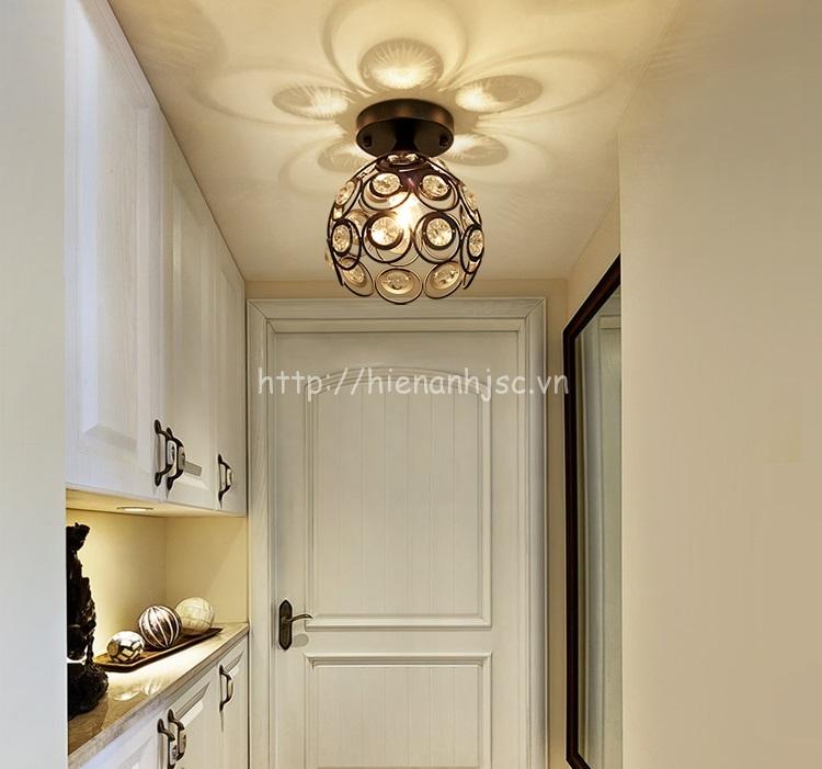 Đèn trần trang trí pha lê cho hành lang DTT035
