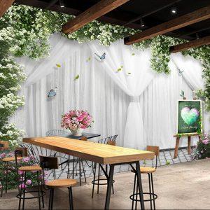 Tranh dán tường rèm tình yêu ngày cưới - 5D127