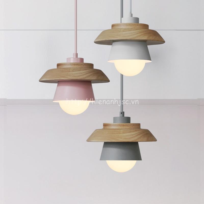Đèn thả gỗ trang trí sáng tạo hiện đại 3D DTT041 bộ 3 bóng