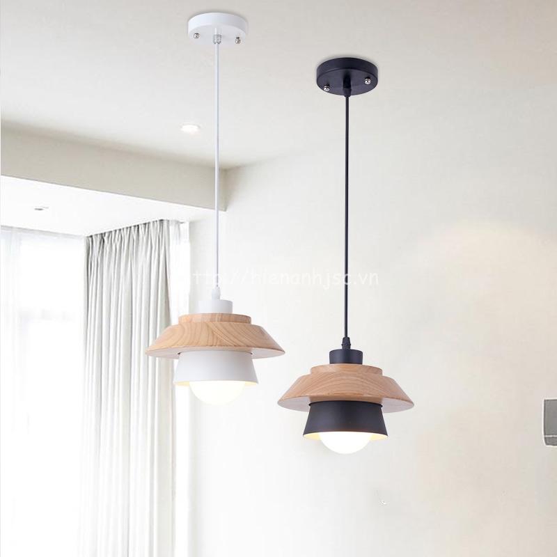 Đèn thả gỗ trang trí sáng tạo hiện đại 3D DTT041 bộ 2 bóng