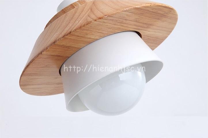 Đèn thả gỗ trang trí sáng tạo hiện đại 3D DTT041