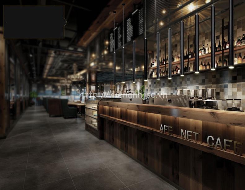 Sử dụng đèn thả trang trí DTT042 cho quán cafe