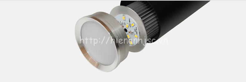 Linh kiện chi tiết thực tế của mẫu đèn thả ống DTT042