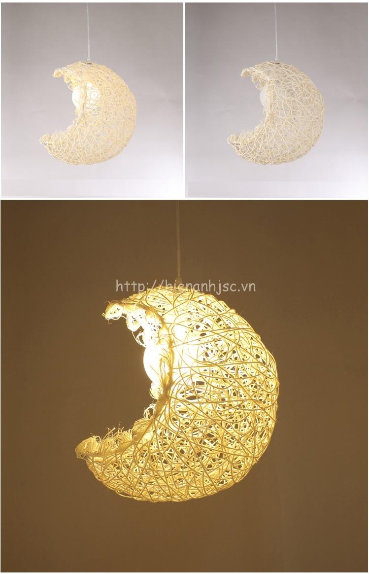 Đèn led sáng tạo thân nhôm hình trăng