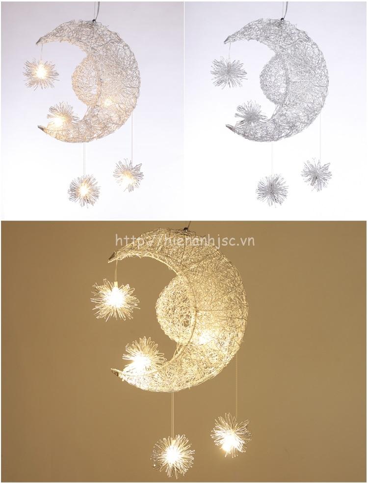 Đèn led sáng tạo thân nhôm hình trăng sao