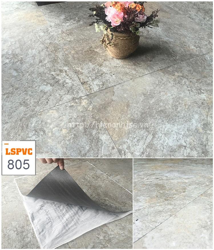 Miếng dán sàn đa năng PVC tự dính 15 mẫu giả đá mã 805