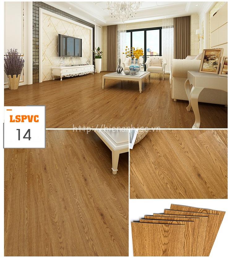 Miếng dán sàn đa năng PVC tự dính 15 mẫu giả gỗ mã 14