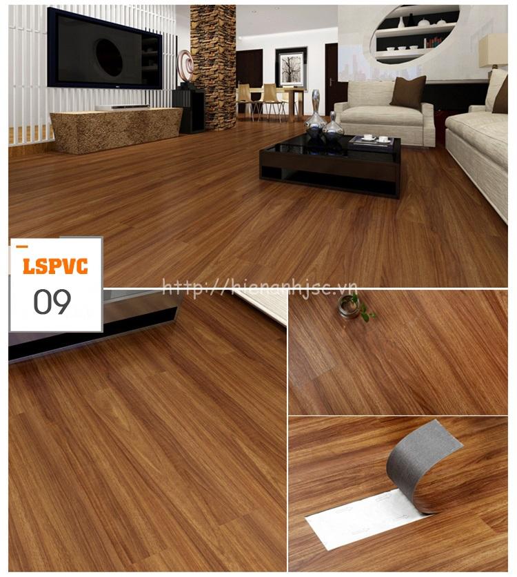Miếng dán sàn đa năng PVC tự dính 15 mẫu giả gỗ mã 09