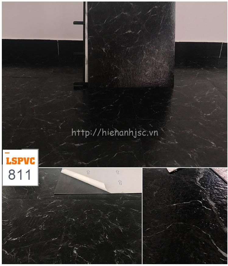 Miếng dán sàn đa năng PVC tự dính 15 mẫu giả đá mã 811