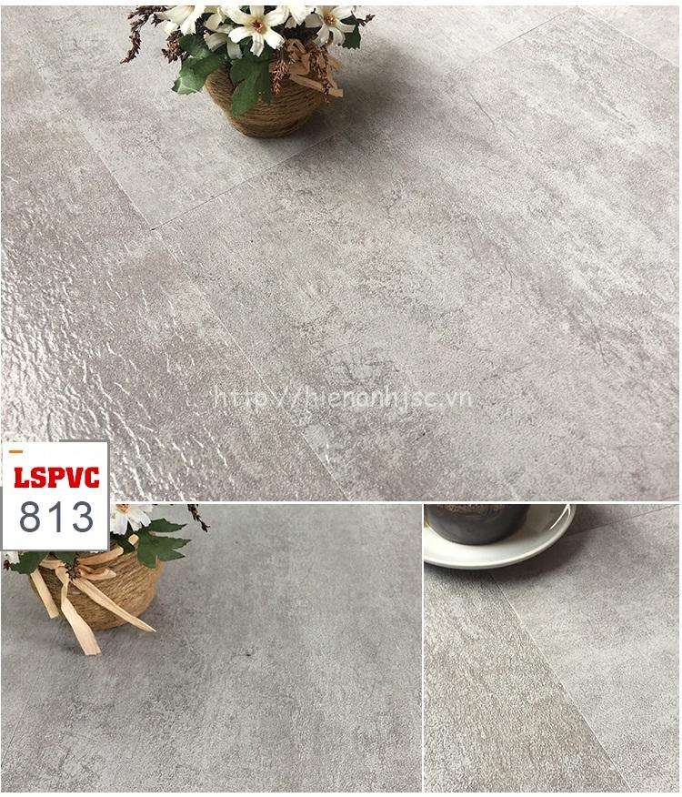 Miếng dán sàn đa năng PVC tự dính 15 mẫu giả đá mã 813