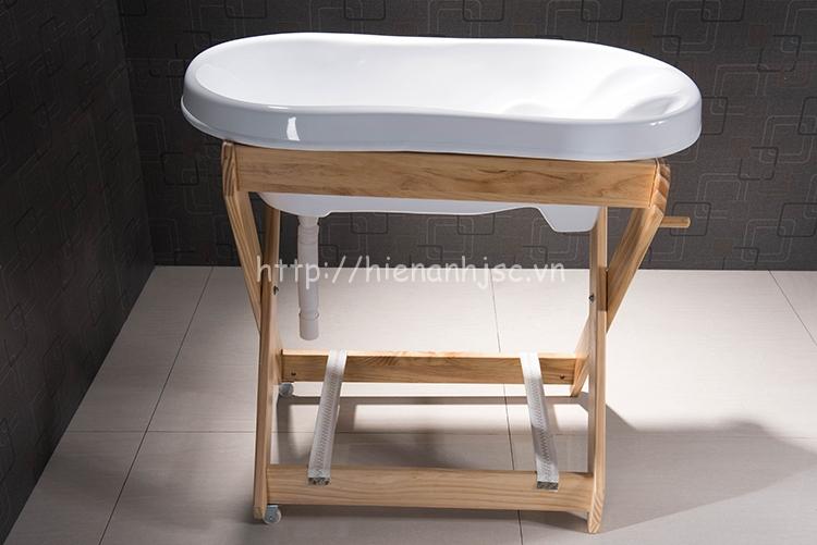 Bồn tắm cho trẻ sơ sinh, bồn tắm cho bé có chân đỡ BT014