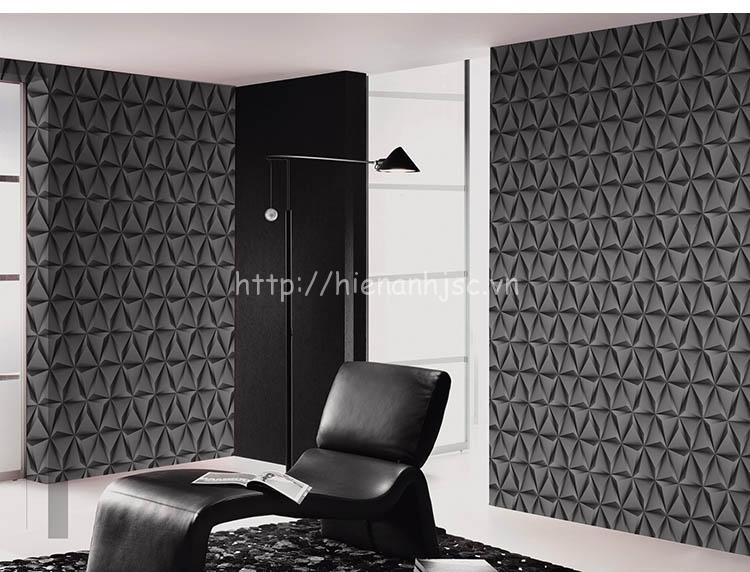 Giấy dán tường 3D - Họa tiết  lập thể 3 chiều cao cấp 3D187 màu xám