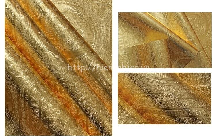 Giấy dán tường 3D vàng ánh kim sang trọng - 3D188