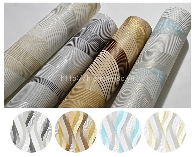 4 màu sắc sang trọng của mẫu giấy dán tường 3D190