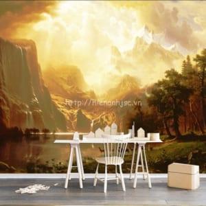 Tranh dán tường phong cách sơn dầu - 5D145