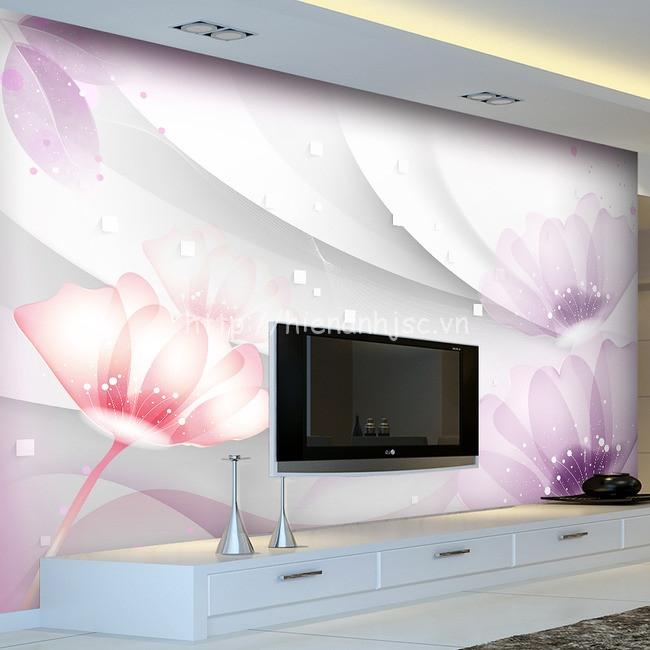 Diện mạo mới làm thay đổi không gian gia đình bạn với tranh hoa tím 5D nhẹ nhàng