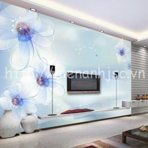 5D154-1-tranh dan tuong hoa xanh tao nha