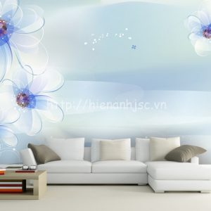 5D154-4-tranh dan tuong hoa xanh tao nha