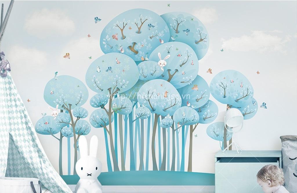 Bức tranh rừng dễ thương cho bé yêu của bạn