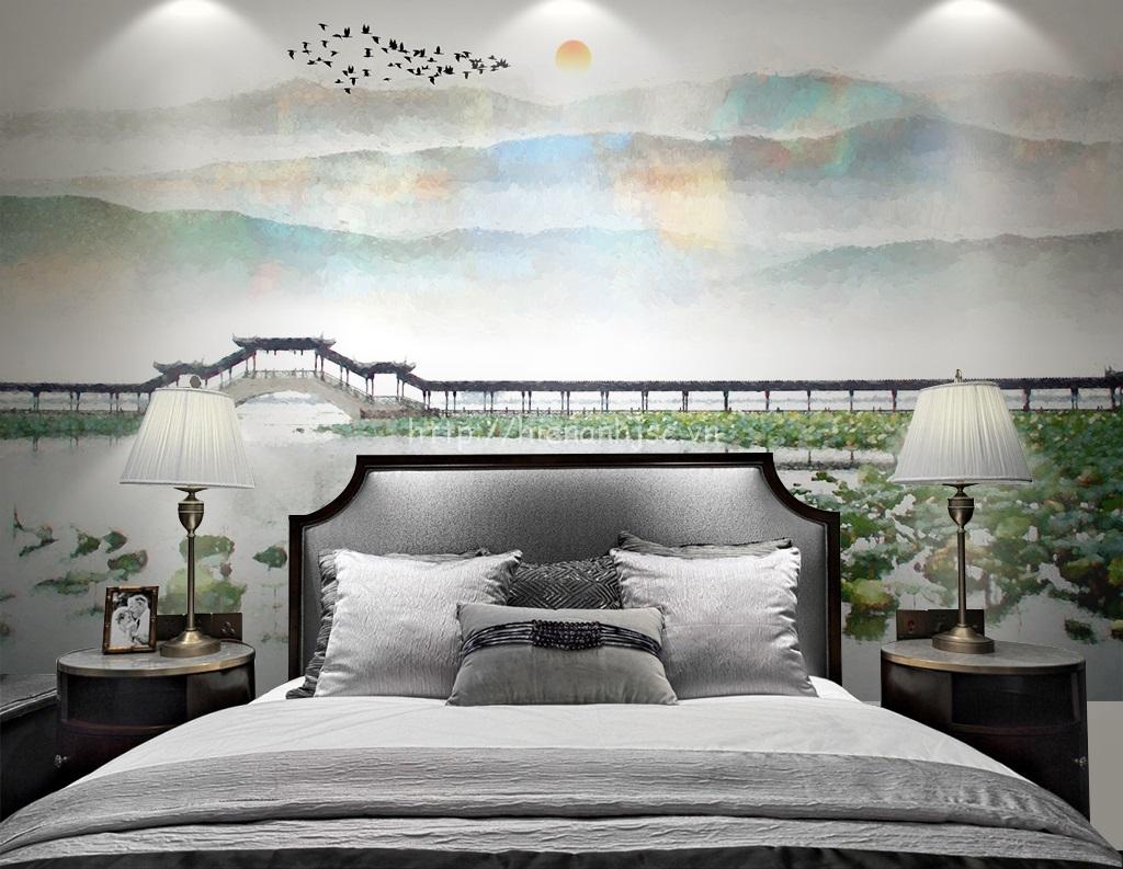 Tranh được dán ở đầu giường ngủ khiến cho bạn có giấc ngủ sâu hơn