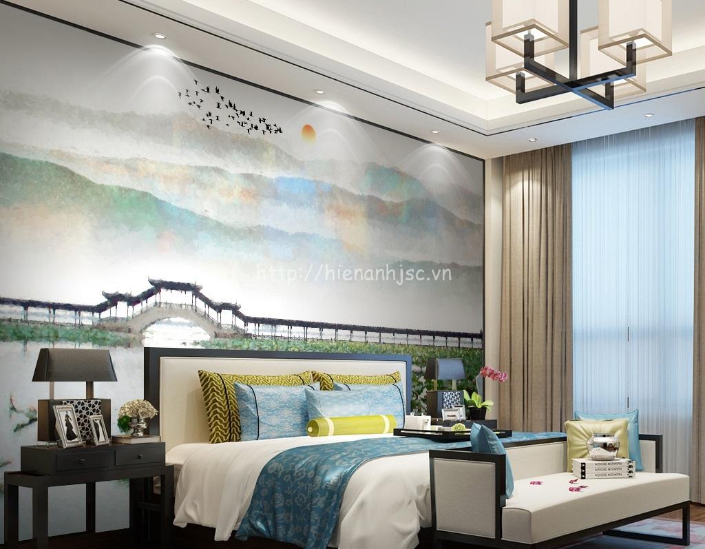 Bức tranh là sự kết hợp cho phòng ngủ vừa hiện đại vừa cổ điển