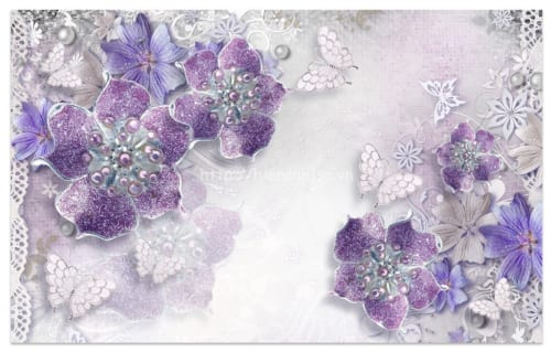5d160-2-tranh hoa tim tuyet dep va cao quy phong cach chau au