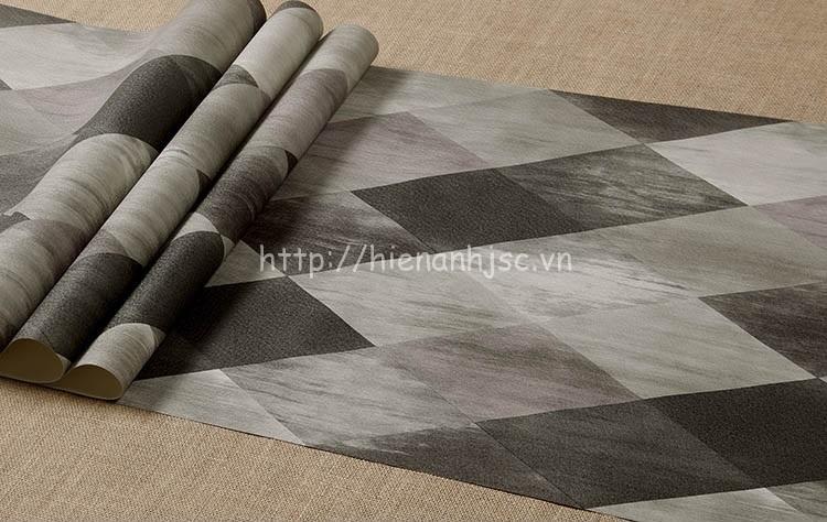 Giấy dán tường - Họa tiết hình thoi kim cương hiện đại 3D209 màu