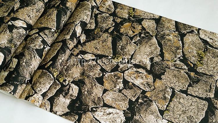 Giấy dán tường 3D - Họa tiết giả đá xếp tự nhiên 3D214 mẫu 1