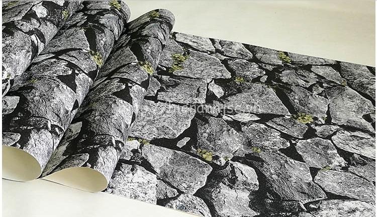 Giấy dán tường 3D - Họa tiết giả đá xếp tự nhiên 3D214 mẫu 2