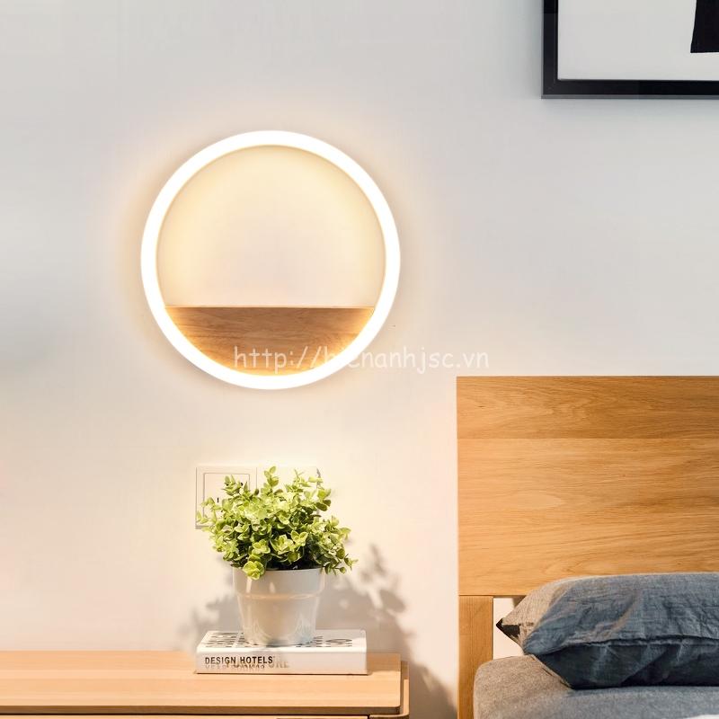 Đèn tường led gỗ hiện đại cho phòng ngủ đẳng cấp