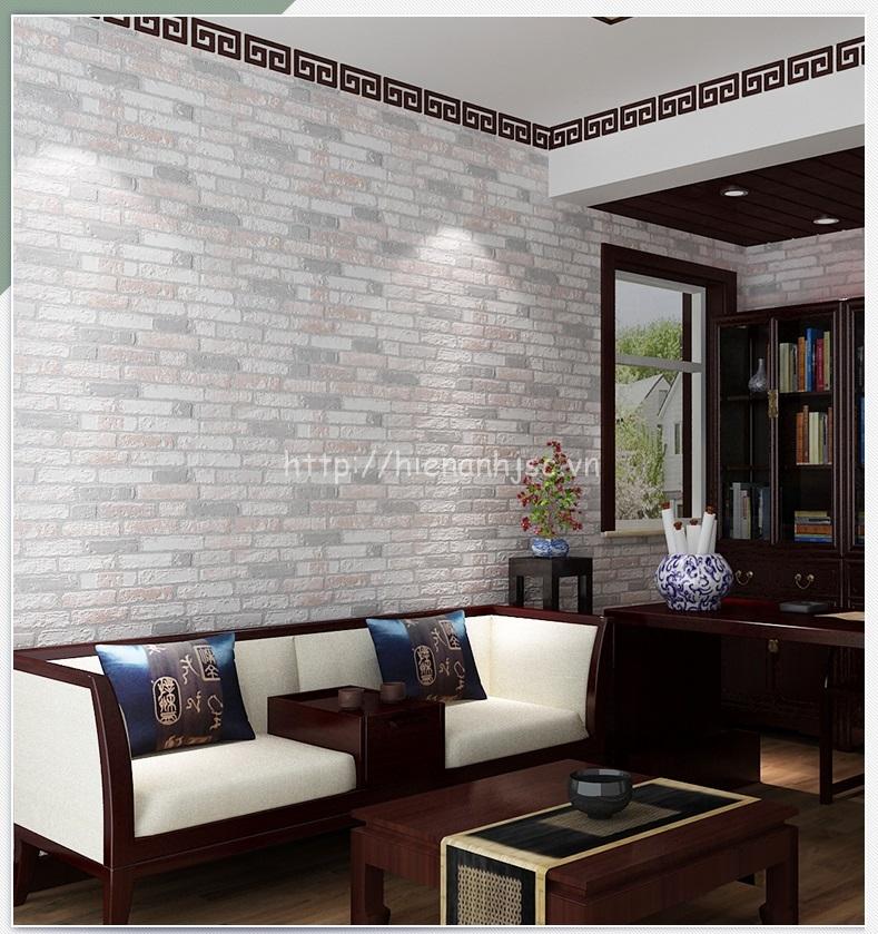 Giấy dán tường 3D - Giấy dán tường họa tiết giả gạch hiện đại 3D218 - Mẫu E