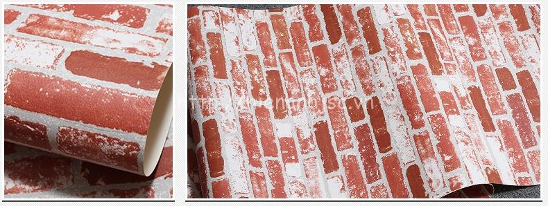 Giấy dán tường 3D - Giấy dán tường họa tiết giả gạch hiện đại 3D218 - Mẫu B