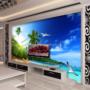 Tranh dán tường bãi biển đẹp phòng khách tại Hà Nội