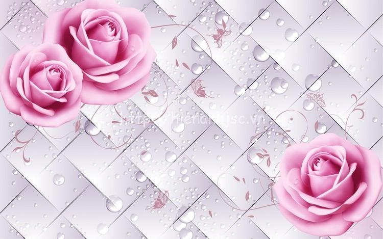 Tranh dán tường hoa đẹp