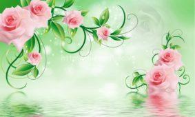 Chọn lọc những mẫu tranh dán tường hoa đẹp nhất