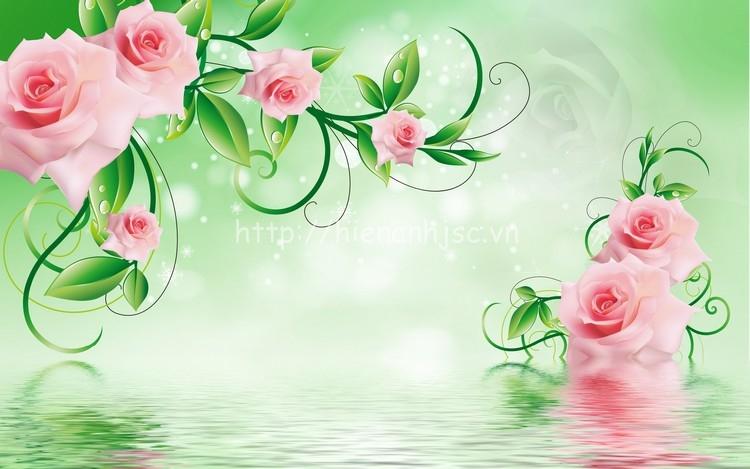 Tranh dán tường hoa hồng đẹp