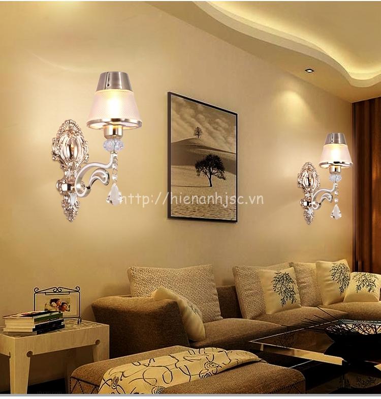 Đèn tường đôi trang trí phong cách Châu Âu DTT055 - Lựa chọn loại 1 bóng