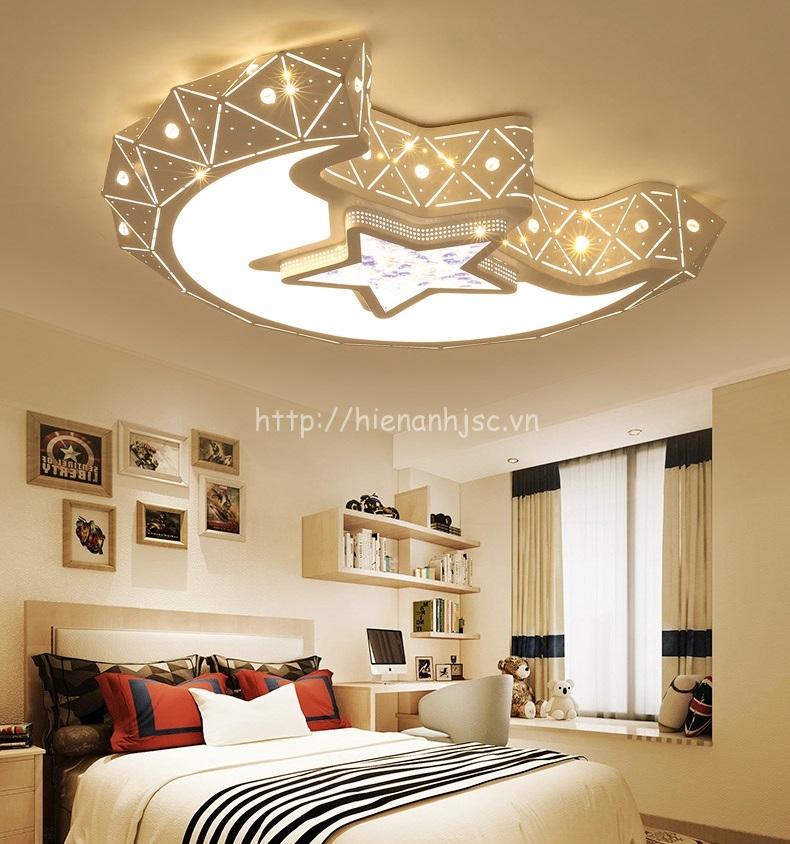 Đèn trần LED trang trí mặt trăng sáng tạo cho phòng ngủ