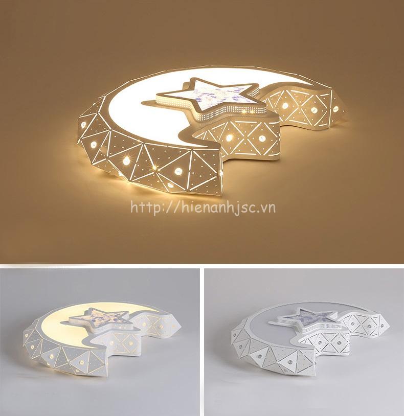 Mẫu đèn được thiết kế hình mặt trăng sáng tạo trong các chế độ tắt/bật