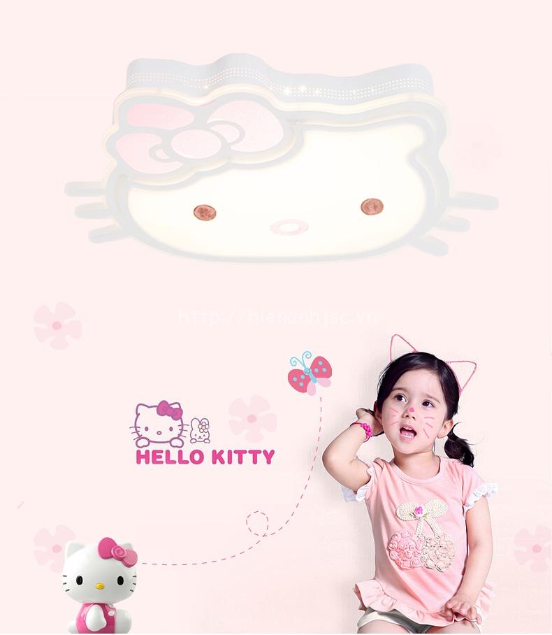 Đèn trần LED trang trí mèo kitty cho bé DTT060