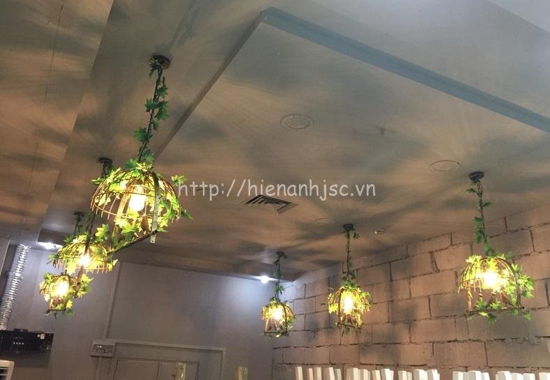 Hình ảnh thực tế của một nhà hàng sử dụng mẫu đèn DTT061