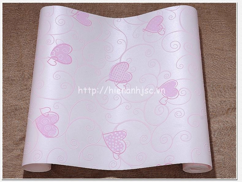 Giấy dán tường 3D - Họa tiết trái tim3D222 - Mẫu 3