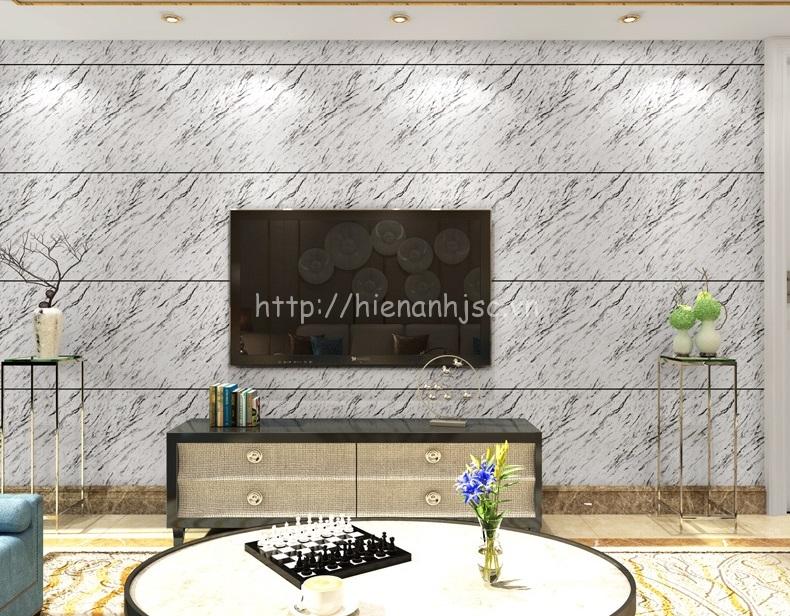 Giấy dán tường 3D - Họa tiết giả đá hiện đại 3D223 màu xám