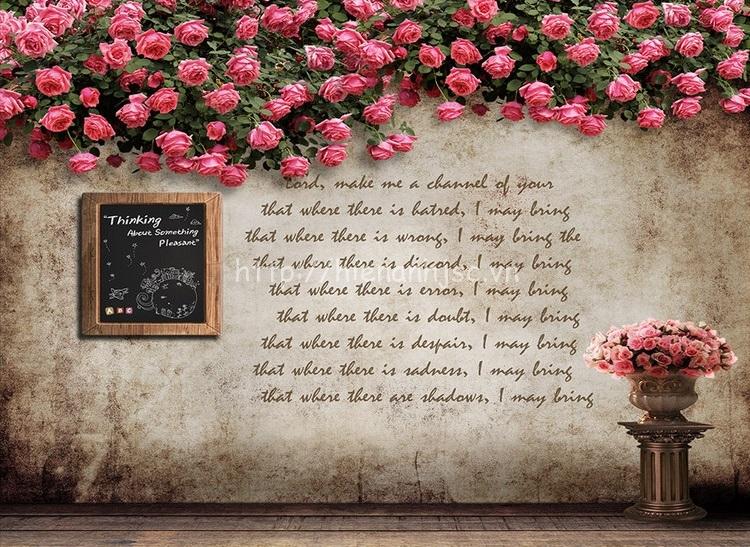 Tranh dán tường 5D - Tranh tường hoa hoài cổ 5D130